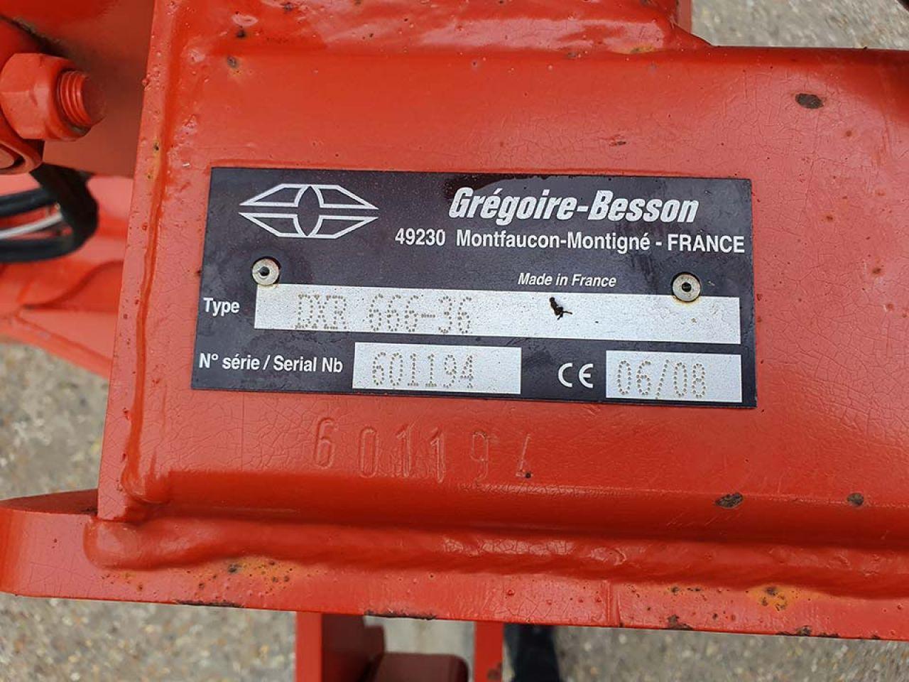 GREGOIRE BESSON DXR 666-36 DISCORDON