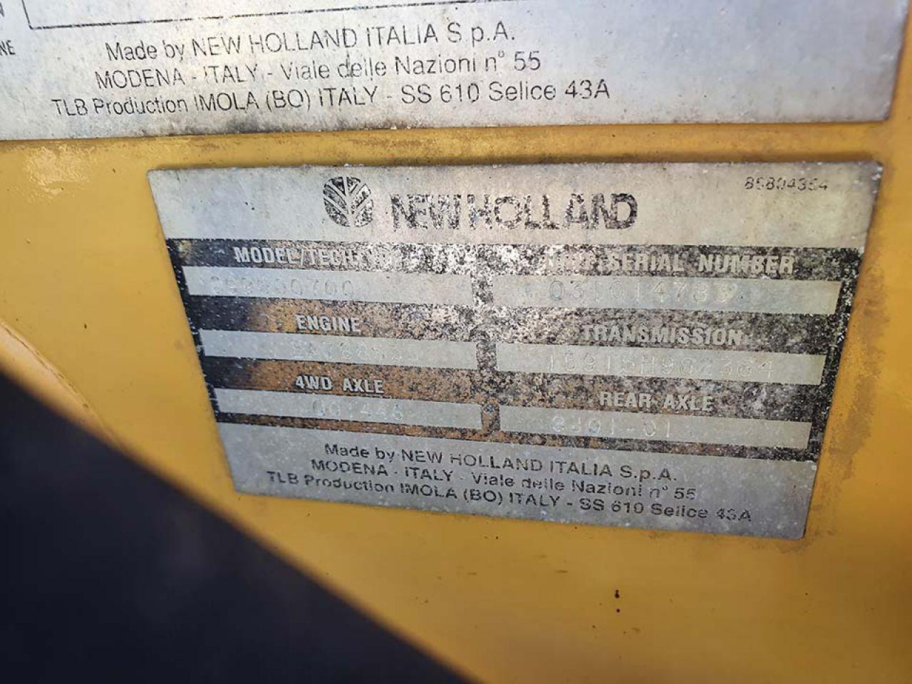 FORD NEW HOLLAND 75 BACKHOE DIGGER LOADER