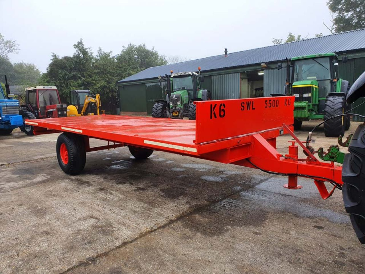 CLS SINGLE AXLE 5 TON FLATBED BALE TRAILER